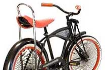 Rower KIDDO Black 20 - Project 346 dziecięcy lowrider, cruiser Made in Holland - kliknij aby zobaczeć szczegóły