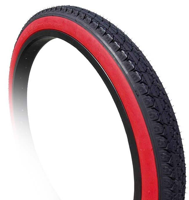 "26/"" CITY SLICK Cruiser tire bike 26 x 2.125 ALL RED"